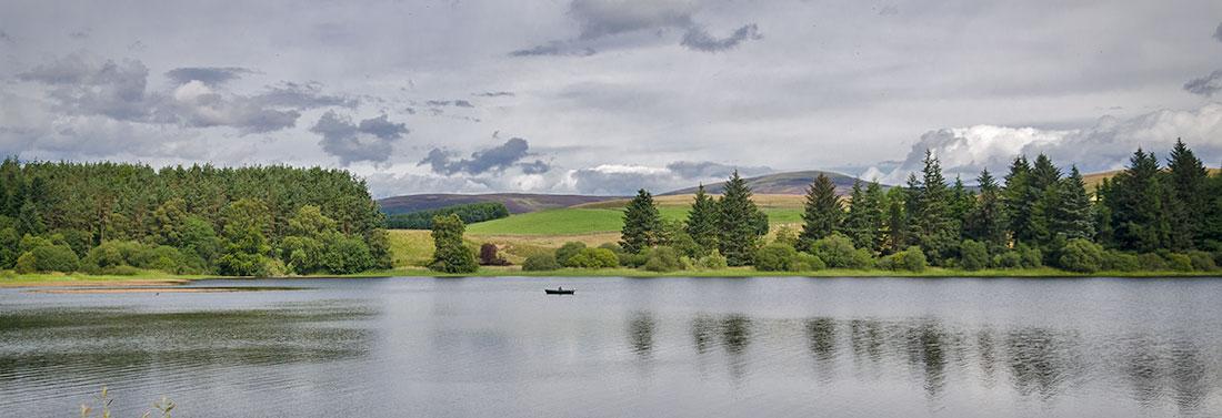 Fishing on Linthrathen Loch