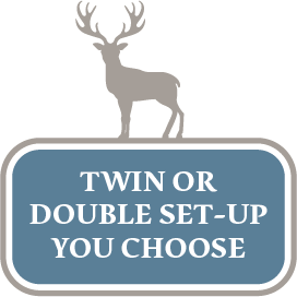 Twin or double setup, you choose