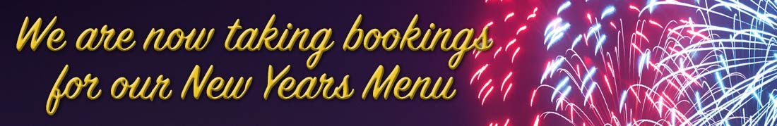 New Years Menu at the Glenisla Hotel